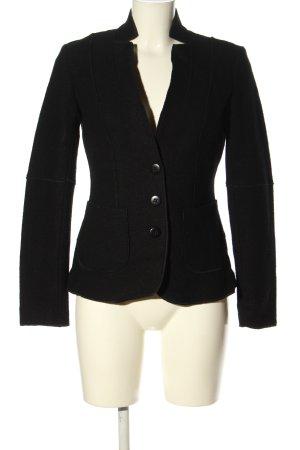 Cara Blazer in lana nero stile casual