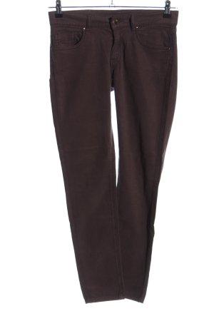 Caractère Pantalon cinq poches brun style décontracté