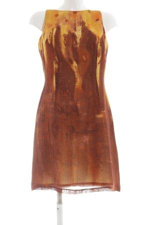Caramelo Minikleid hellorange-blassgelb abstraktes Muster Elegant