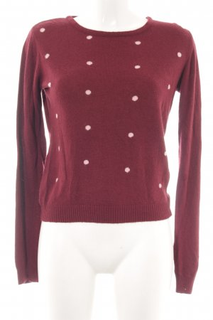 Caramelo Rundhalspullover rot-pink Punktemuster Casual-Look
