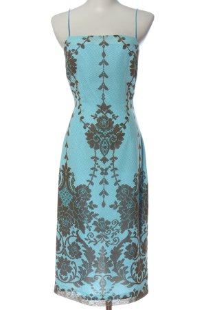 Caramelo Robe à bretelles bleu-noir motif abstrait élégant