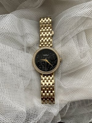 Caravelle Watch With Metal Strap gold-colored-black