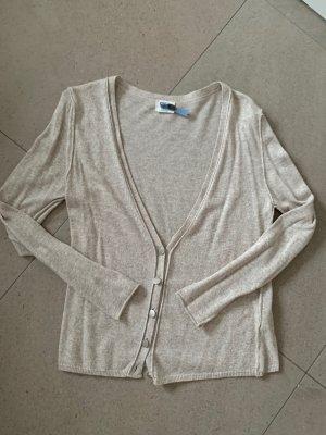 Wełniany sweter jasnobeżowy