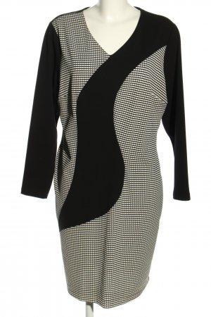 Carbi Women Robe stretch noir-blanc style décontracté