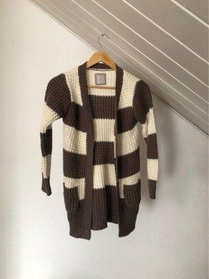 Manguun Crochet Cardigan natural white-light brown