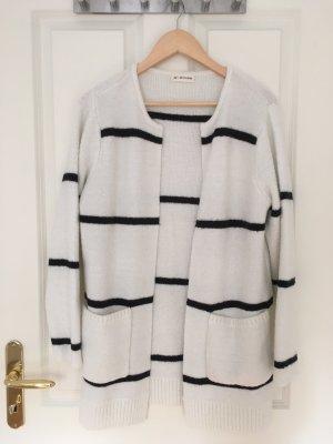 24 colours Cárdigan negro-blanco puro