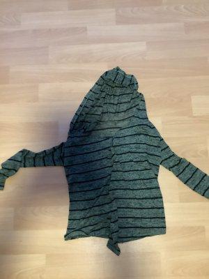 Szydełkowany sweter czarny-morski