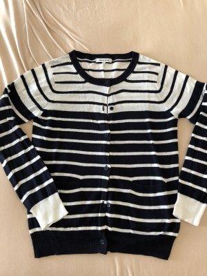 Chaqueta estilo camisa blanco-azul oscuro