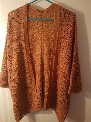 untitled Szydełkowany sweter brązowy