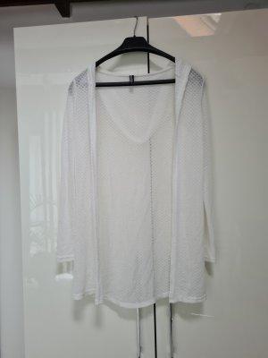 Colloseum Szydełkowany sweter biały
