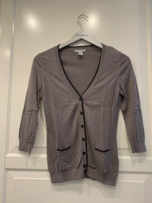 H&M Short Sleeve Knitted Jacket grey brown
