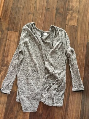 H&M Divided Long Knitted Vest black-light grey