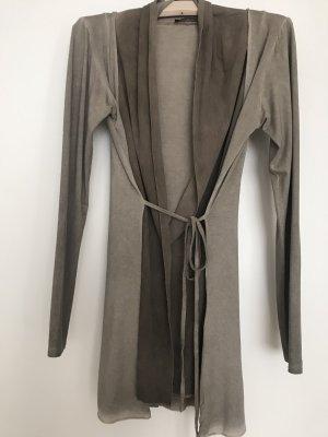 Authentic Clothing Company Kardigan szaro-brązowy Wiskoza