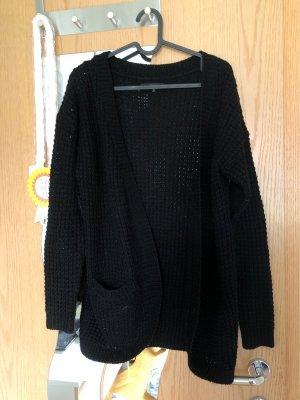 Only Gehaakte cardigan zwart