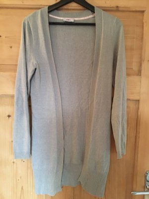 FLG Szydełkowany sweter jasnoszary-szary