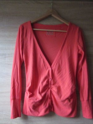 awg Cardigan red mixture fibre