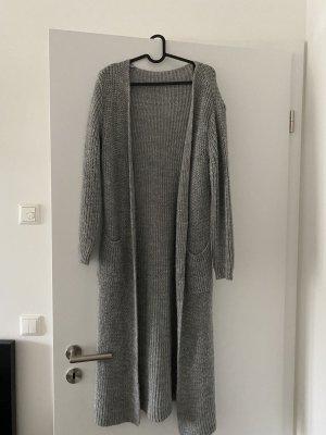 H&M Cardigan lungo grigio chiaro