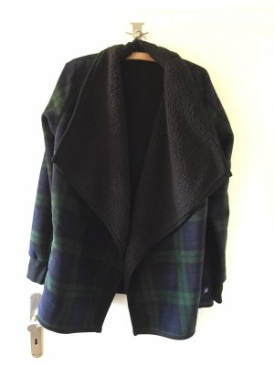 Abercrombie & Fitch Knitted Wrap Cardigan dark blue-dark green