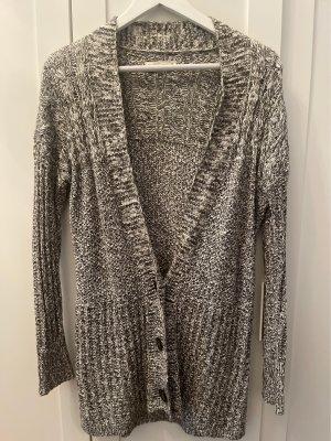 Abercrombie & Fitch Cardigan tricotés gris-blanc