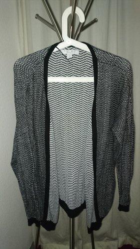 Amisu Gebreide cardigan wit-zwart