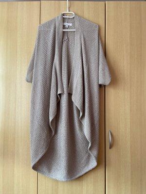 Amisu Crochet Cardigan grey-gold-colored