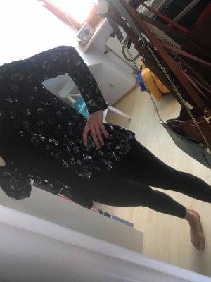 Barbara Schwarzer Cardigan noir-argenté