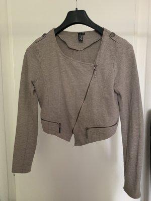 CoolCat Cardigan in maglia grigio-bianco