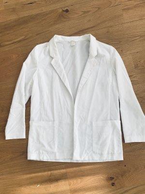 H&M Blazer stile Boyfriend bianco Tessuto misto
