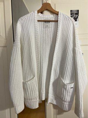 Hollister Szydełkowany sweter biały