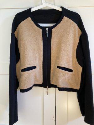 COS Blazer in maglia nero-bronzo