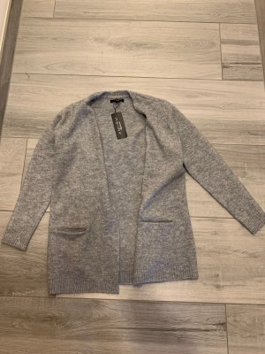 Amisu Gilet tricoté gris-gris clair