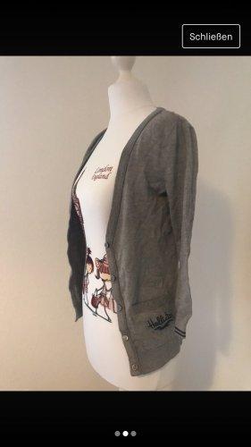Hollister Chaqueta estilo universitario gris