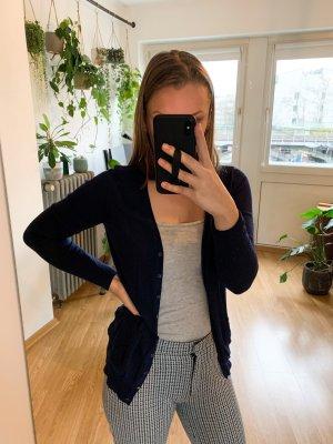 Cardigan dunkelblau mit Taschen