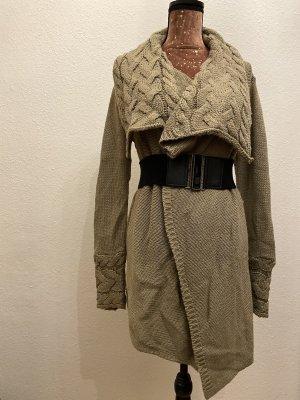 Orsay Szydełkowany sweter szaro-brązowy