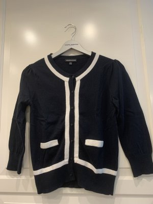 Warehouse Short Sleeve Knitted Jacket black-cream