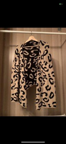 Sheinside Cardigan in maglia nero-marrone chiaro