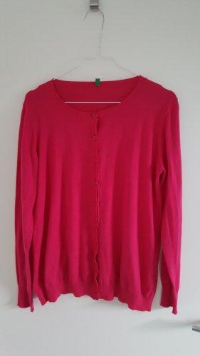 Benetton Cardigan magenta cotton