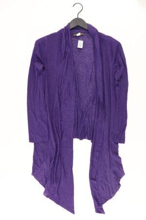 Cardigan Größe 38 Langarm lila aus Polyacryl
