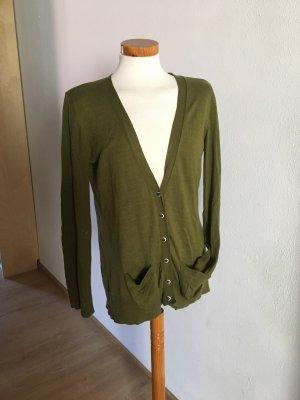 Cardigan grün tanne von YERSE S 36 mohair weich Jacke pullover designer angora