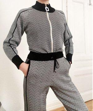 Ensemble en tricot noir-gris