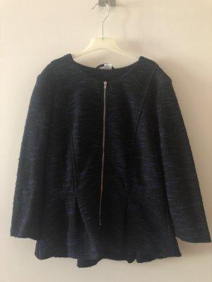 H&M Blazer en maille tricotée noir-bleu