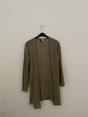 Cardigan in Khaki Farbe