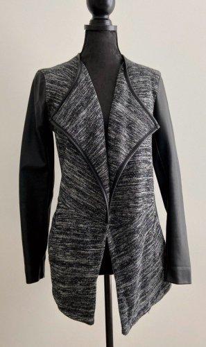 Only Blazer tejido negro-gris tejido mezclado