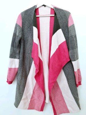 Cardigan/ Jacke / Comma,/ Größe L / passend für eine M/ Grau-Rosa