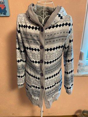 Fur Jacket white-grey