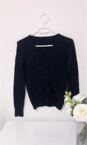 Cardigan jäckchen jacke dunkelblau zara herbst winter strick knit