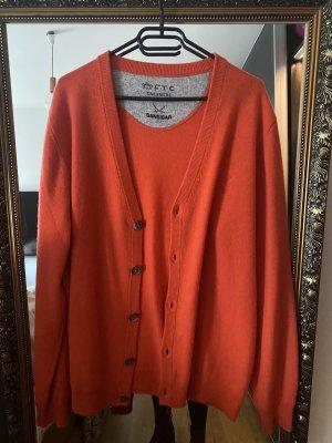 Sansibar sylt Giacca in maglia arancione scuro