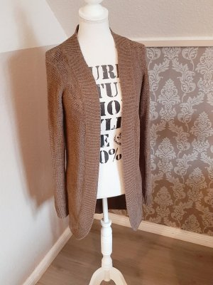 Only Coarse Knitted Jacket bronze-colored polyacrylic