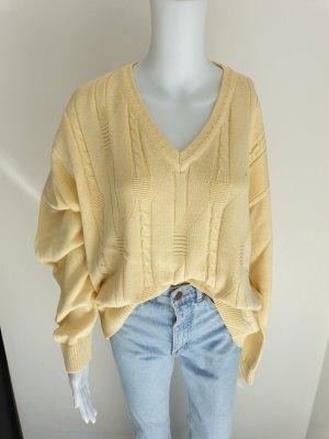 Vintage Pull oversize jaune clair-jaune