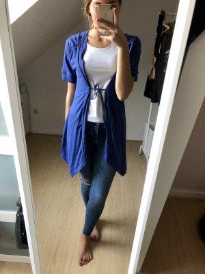 Qiero Cárdigan de manga corta azul Algodón